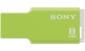SONY Flash disk USM8GMG - MICRO VALUT, USB 2.0(1.1), 8 GB, Software File Rescue, x-Pict Story, Green
