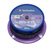 VERBATIM DVD+R 8,5 GB 8x DoubleLayer MATT SILVER spindl 25pck/BALL