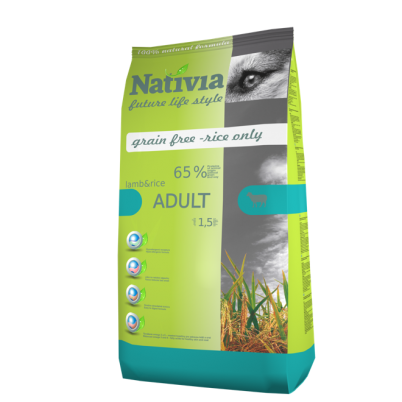 NATIVIA ADULT | LAMB & RICE | 15 kg