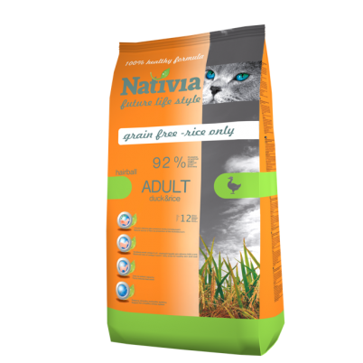 NATIVIA ADULT HAIRBALL | DUCK & RICE | 10 kg