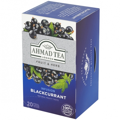 Čaj Ahmad Tea Blackcurrant 20 sáčků