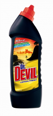 Dr.Devil WC gel 750 ml Lemon