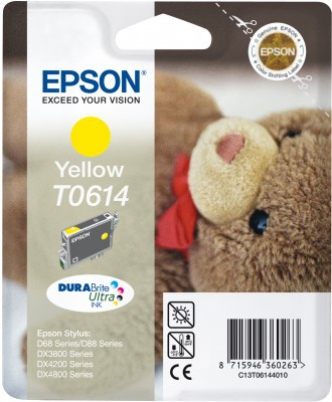 EPSON cartridge T0614 yellow (medvídek)