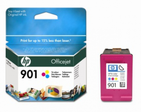 CC656AE HP Ink Cart No.901 pro OJ 4500, J4580, 9ml, Color