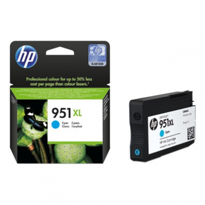 CN046AE HP Ink Cart No.951XL pro OJ 8100, 251dw, 276dw, 24ml, Cyan
