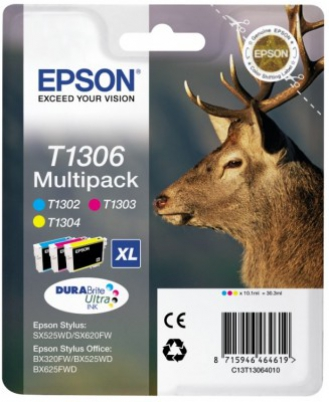 EPSON cartridge T1306 (cyan/magent/yellow) multipack (jelen)