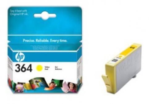 CB320EE HP Ink Cart No.364 pro D5460, C5380, 3ml, Yellow