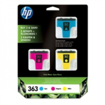 CB333EE HP Ink Cart No.363, cyan 4ml, magenta 3,5ml, yellow 6ml