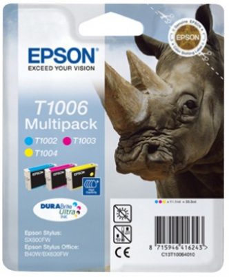 EPSON cartridge T1006 (cyan/magent/yellow) multipack (nosorožec)