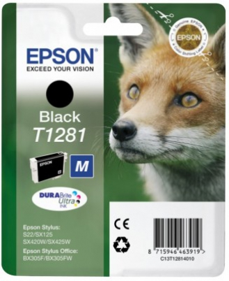 EPSON cartridge T1281 black (liška)