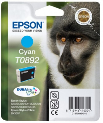 EPSON cartridge T0892 cyan (opice)