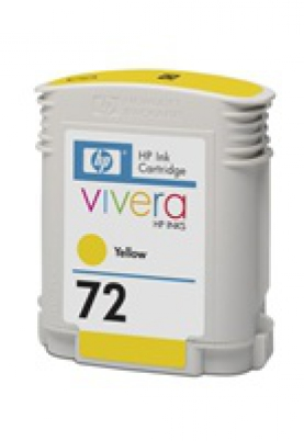 C9400A No. 72 Yellow Ink Cartridge pro DJ T610, T1100, 69ml