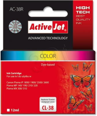 ActiveJet Ink cartridge Canon CL-38 Premium Col. AC-38 - 12 ml     AC-38