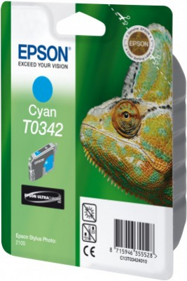 EPSON cartridge T0342 cyan (chameleon)