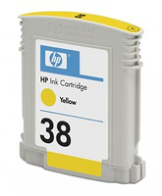 C9417A HP Ink Cart No.38 pro Photosmart Pro B9180, 27ml, Yellow