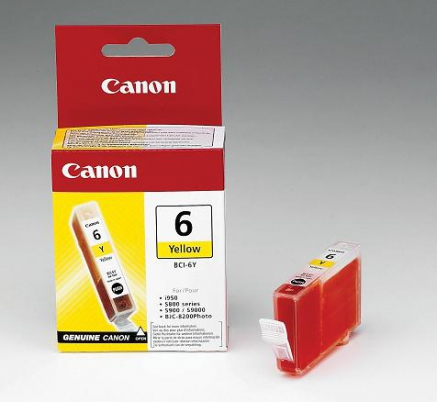 Canon cartridge BCI-6Y Yellow (BCI6Y)