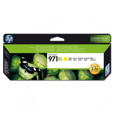 CN628AE HP Ink Cart No.971XL pro OJ Pro X451,X551dw,X476/X576dw, 6600str., Yellow