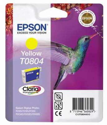 EPSON cartridge T0804 yellow (kolibřík)
