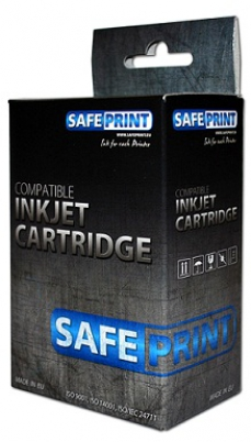 SAFEPRINT cartridge Canon pro BJC 3000, 6x00, S400, S450... (BCI3e/Black)
