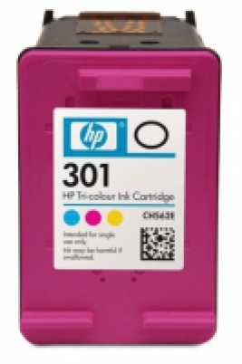 CH562EE HP Ink Cart No.301 pro DJ2050,3050,D1000,D2000,D3000, 3ml, Color