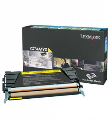 C734, C736, X734, X736, X738 Yellow Return Programme Toner Cartridge (6K)
