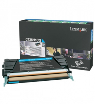 C736, X736, X738 Cyan High Yield Return Programme Toner Cartridge (10K)